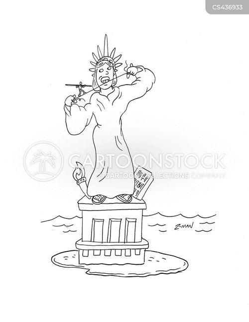 liberty island cartoon