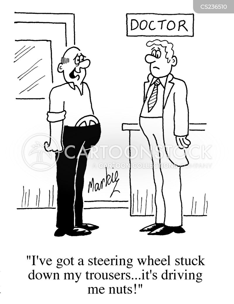 steering wheel cartoon