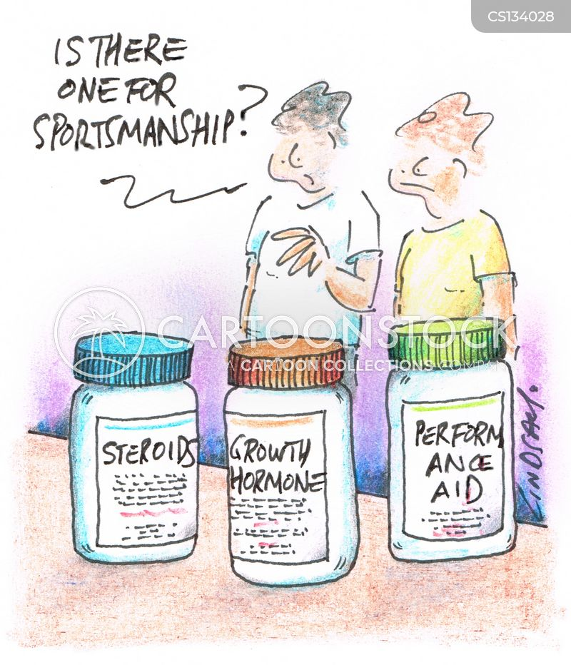 steroid abuse cartoon