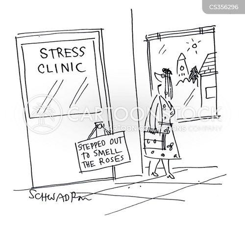 stress clinic cartoon