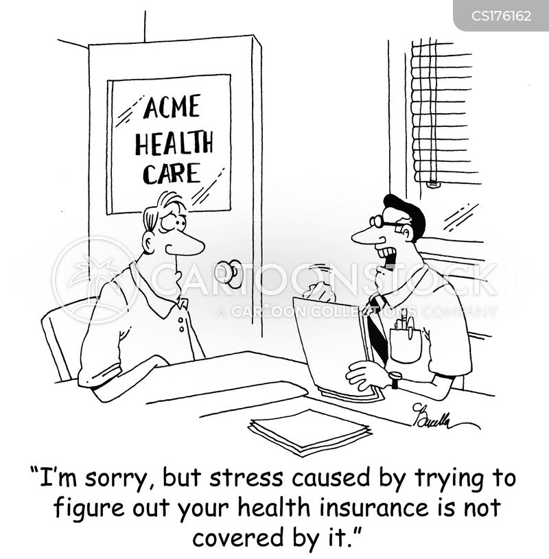 stress-related illness cartoon