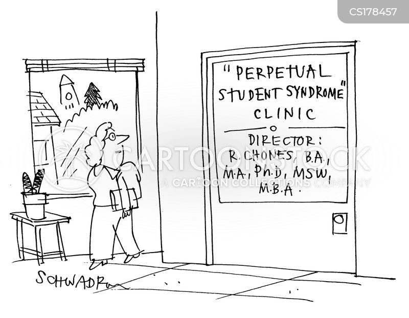 college students cartoon
