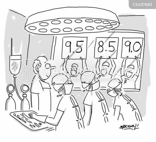 score cards cartoon