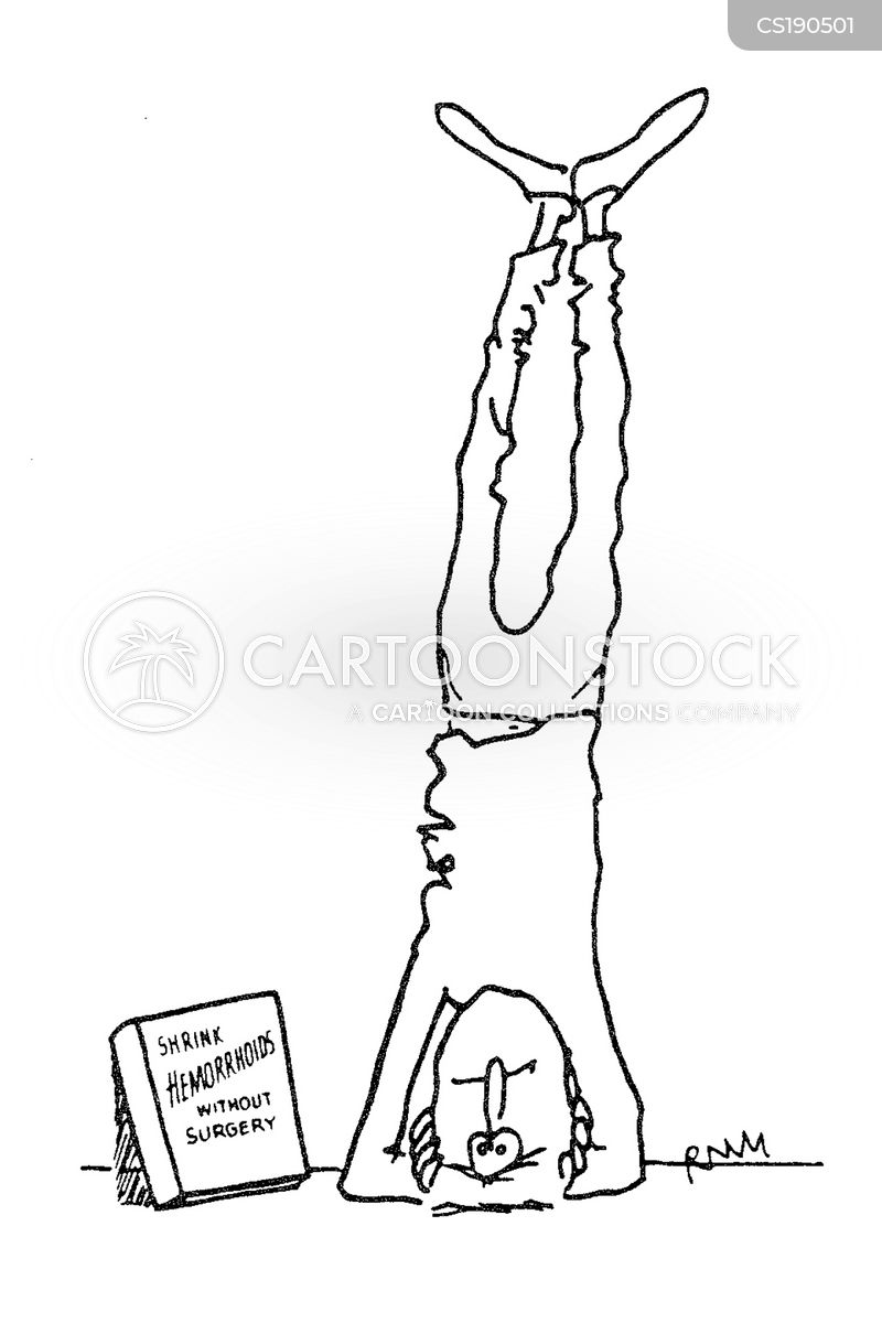 headstand cartoon