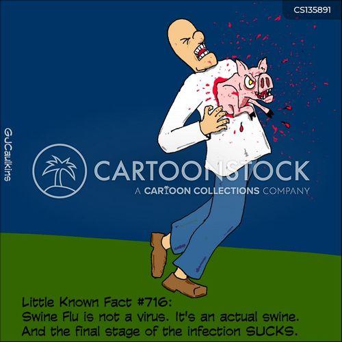 influenza epidemic cartoon
