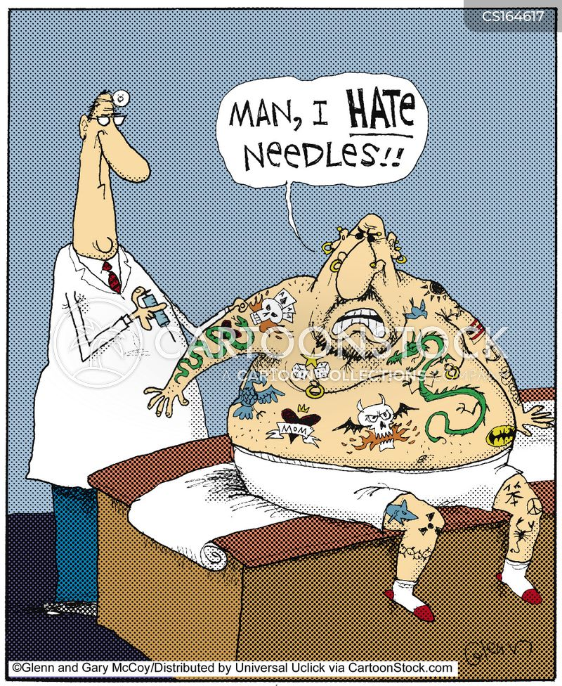 injected cartoon