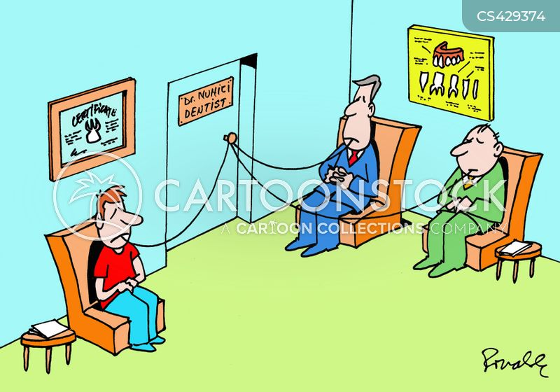teeth extractions cartoon