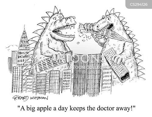 apple a day cartoon