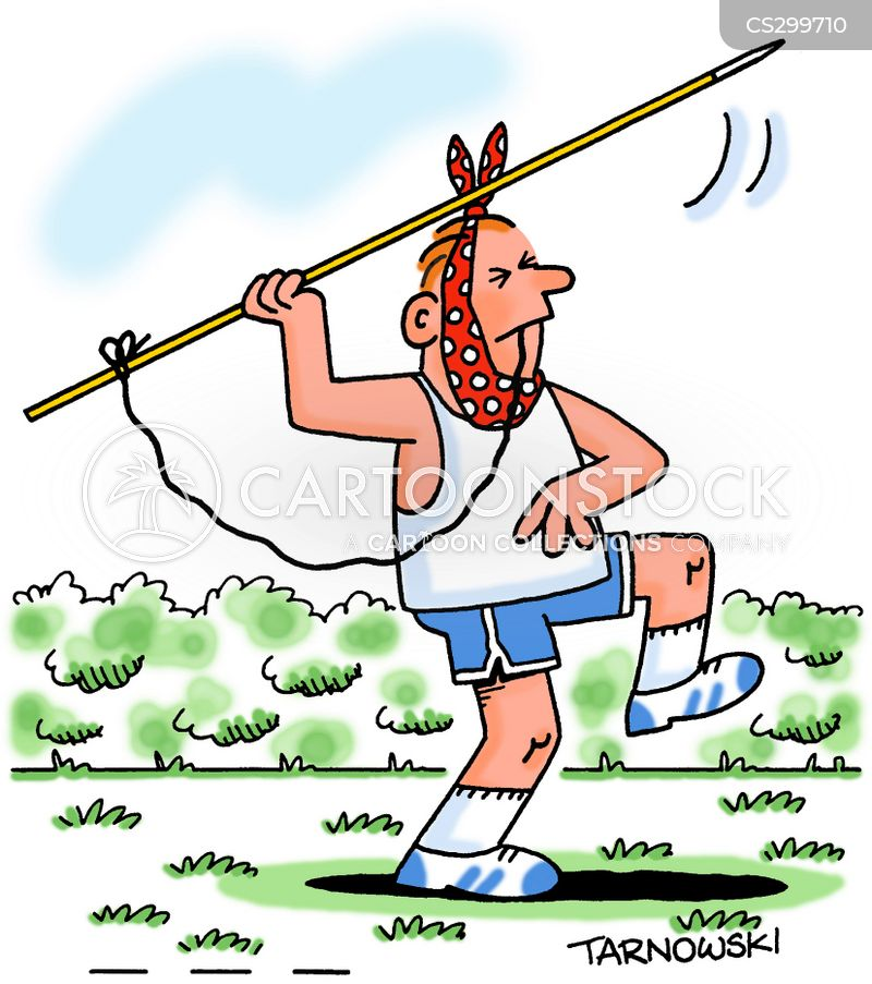 javelin throwers cartoon