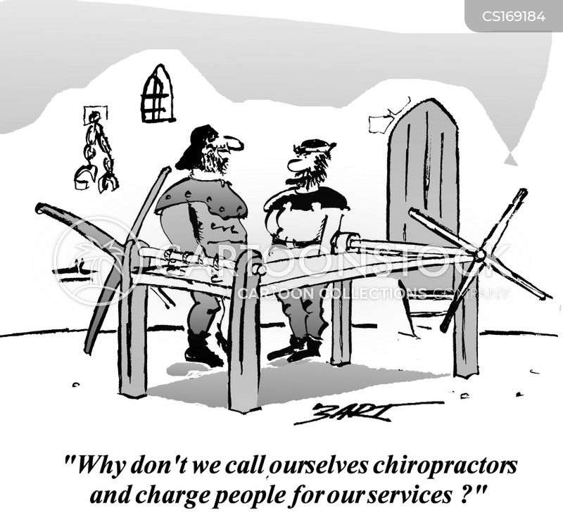 chiropractics cartoon