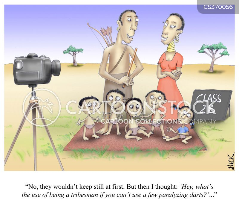 tribesmen cartoon