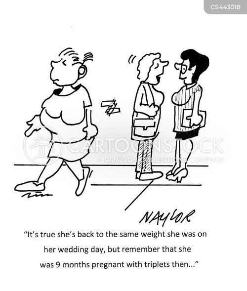 pregnancy weight cartoon