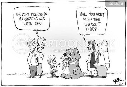 antivaccination cartoon