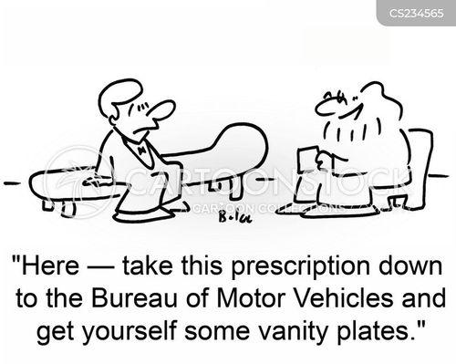 number plates cartoon