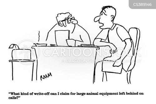 write offs cartoon