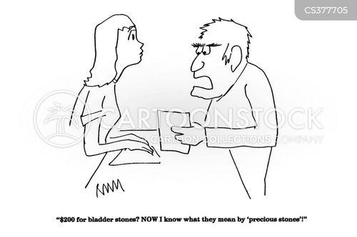 bladder stones cartoon