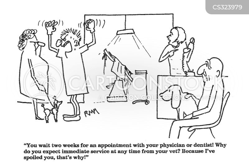 emergency appointments cartoon