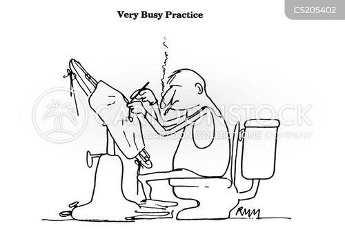 multi tasking cartoon