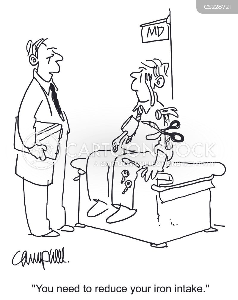 iron supplement cartoon