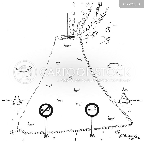pyroclastic flow cartoon