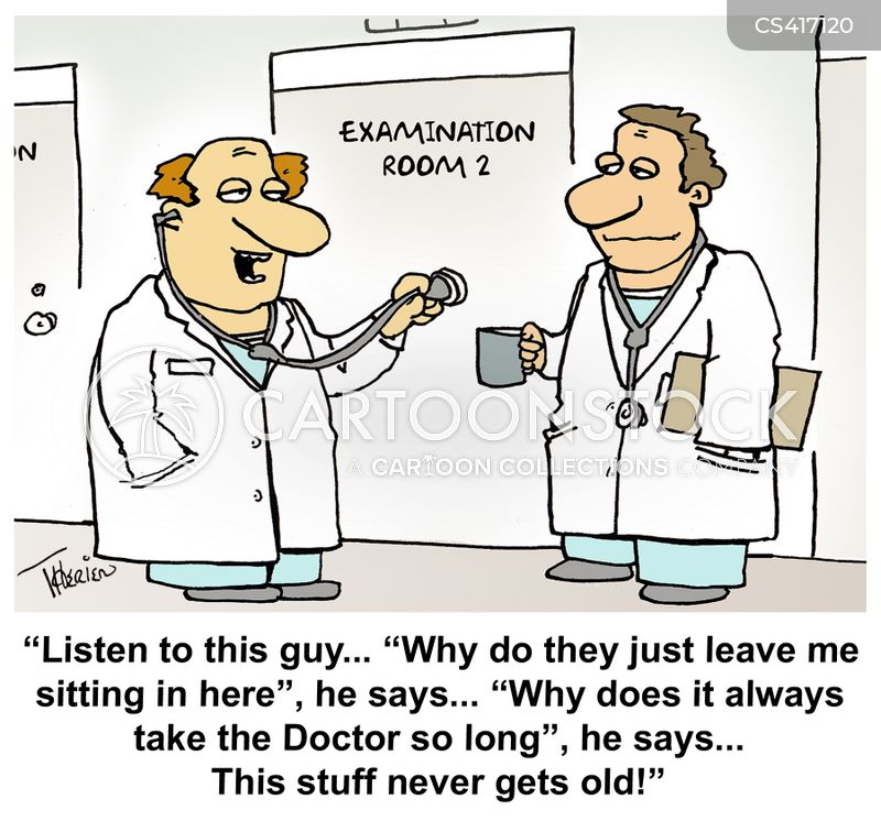 examination room cartoon