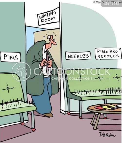 bed of needles cartoon