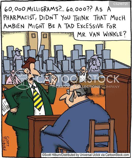 sleeping drug cartoon