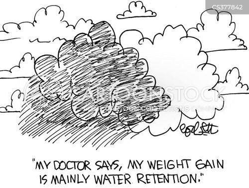 water retention cartoon