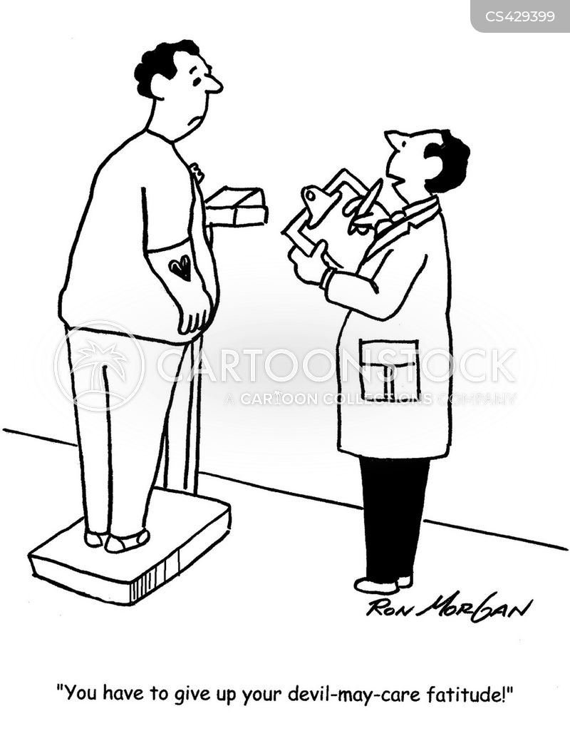 weight related diseases cartoon