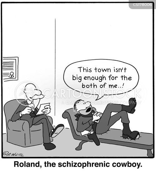 schizophrenia cartoon