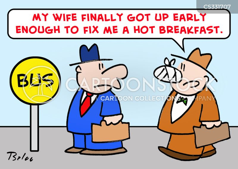 cooked breakfasts cartoon