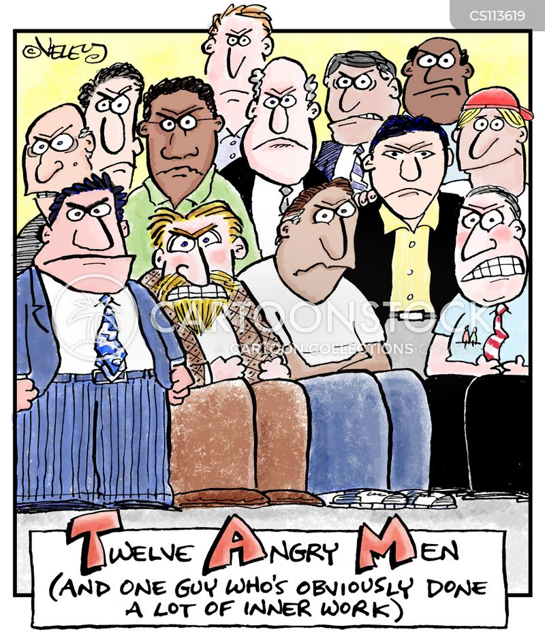 angry men cartoon