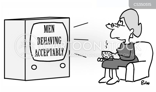 acceptable behavior cartoon