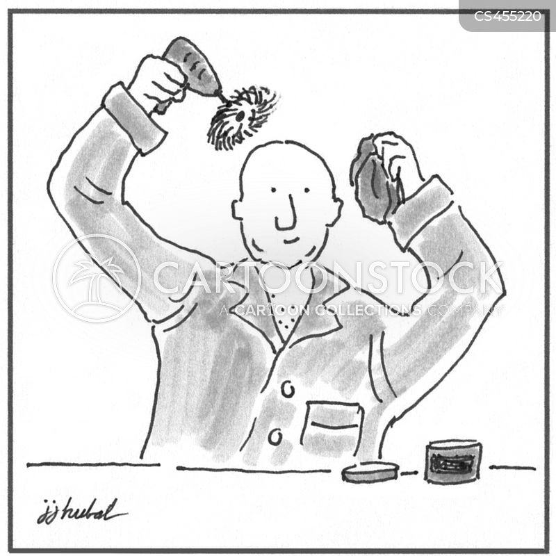 scalp treatment cartoon
