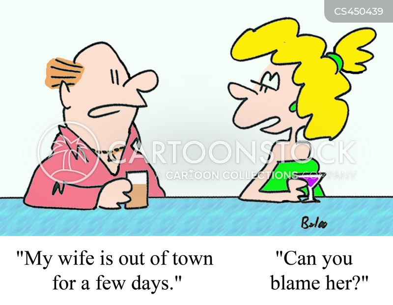 out of town cartoon