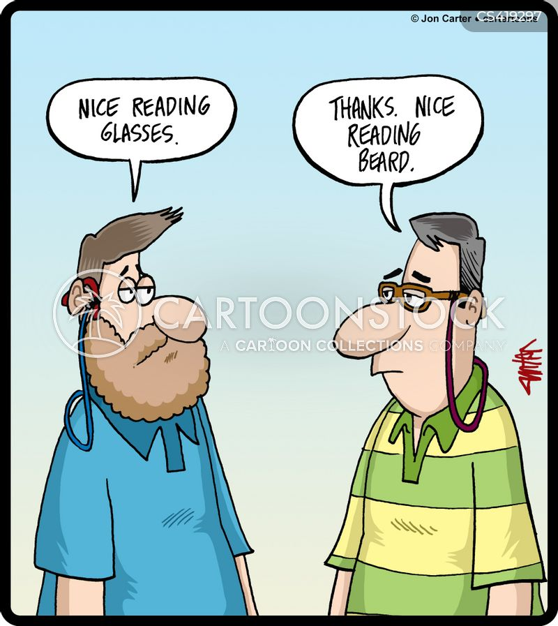 reading specs cartoon