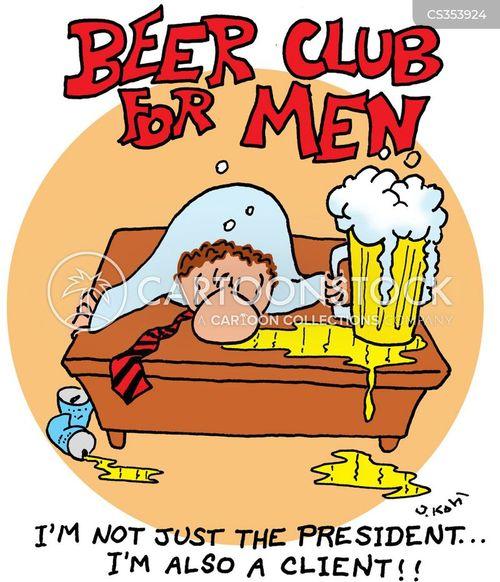 mens club cartoon