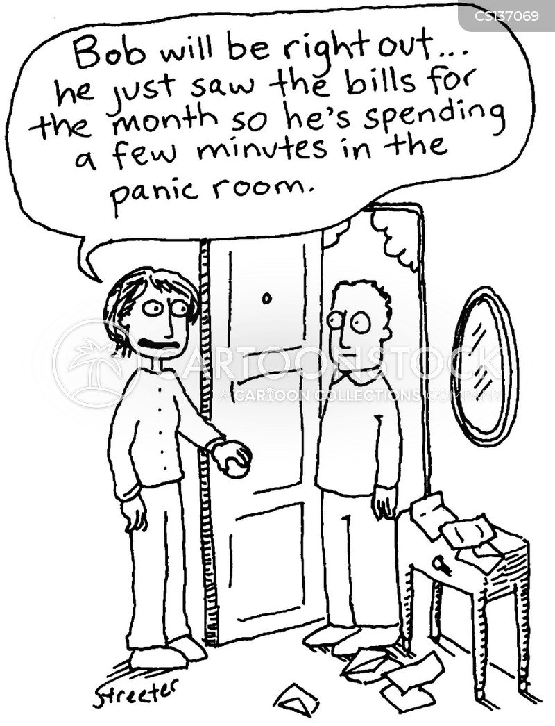 panic room cartoon