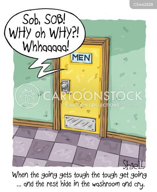 weeping cartoon