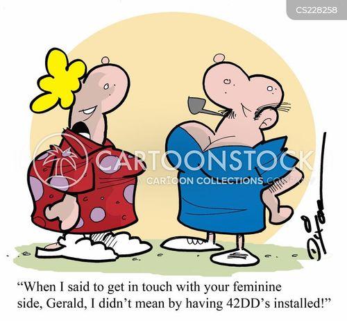 breast job cartoon