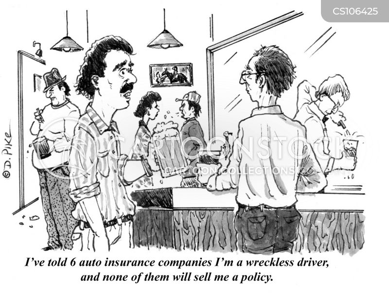 reckless drivers cartoon