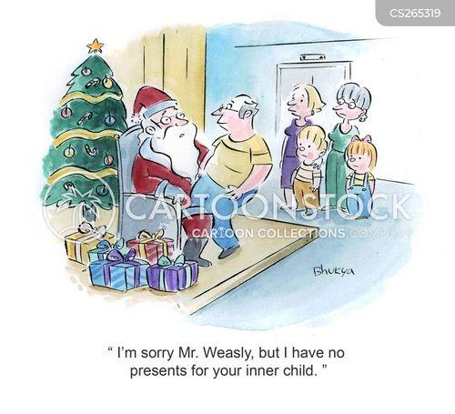meet santa cartoon