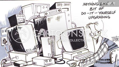 modem cartoon