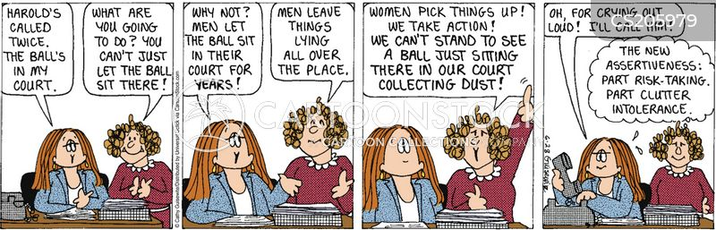 men vs women cartoon