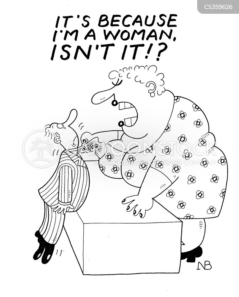 angry women cartoon