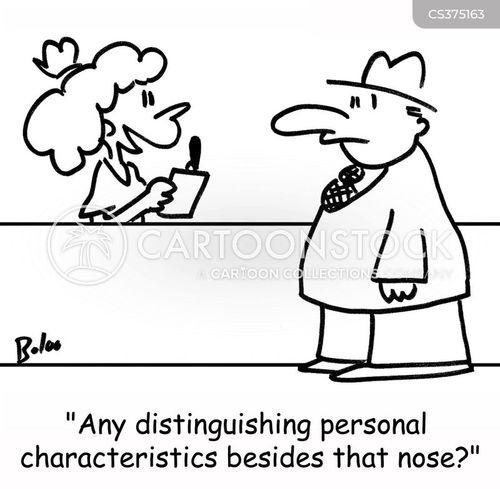 distinguishing characteristics cartoon
