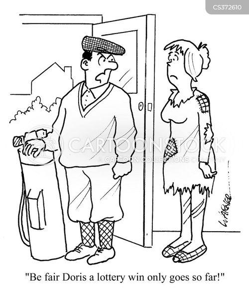 the lottery cartoon