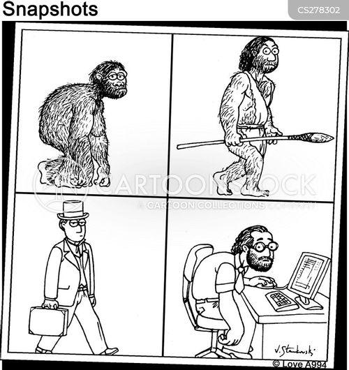 evolutionary cartoon