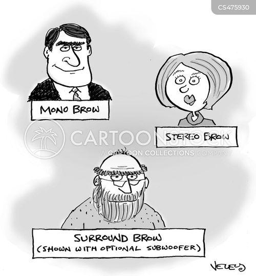 facial features cartoon