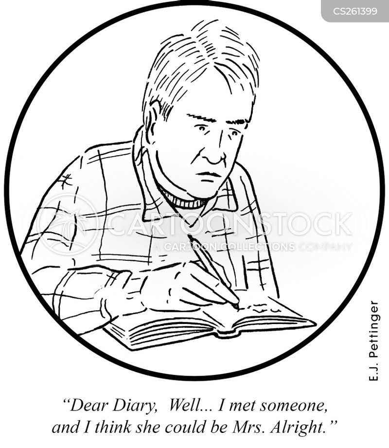 diary entries cartoon